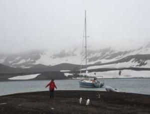 Le voilier DA BOAT HANSE 430 en Antarctique
